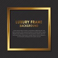Luxusgoldquadratrahmen mit Kopienraum für Textdesign auf schwarzem Hintergrund. vektor