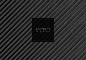 abstraktes graues Streifenmuster diagonal auf schwarzem Hintergrund und Textur. vektor