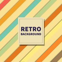 abstraktes Hintergrundmuster diagonaler Vintage-Retro-Farbstil-Hintergrund mit Platz für Ihren Text. vektor