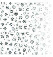 Baseball-Muster-Hintergrund für Business-Broschüren-Cover-Design. Vektor-Banner-Poster-Vorlage vektor