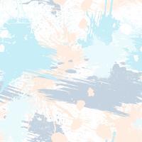 Abstraktes nahtloses Muster mit Bürstenanschlägen, Farbe spritzt und Steinbeschaffenheiten. vektor