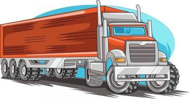 der rote Monster Truck Off Road Illustrationsvektor vektor