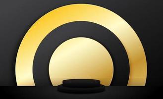 Gold modernes abstraktes Hintergrunddesign vektor