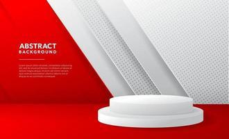 rotes weißes modernes abstraktes Hintergrunddesign vektor