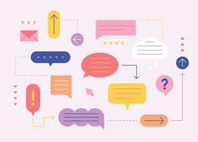 Sprachweiden sind verbunden und teilen Meinungen einfache Musterdesign-Vorlage. vektor