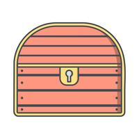 Münze Brust Vektor Icon
