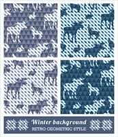 Winter geometrische nahtlose Muster.