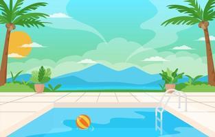 Schwimmbad Hintergrund vektor