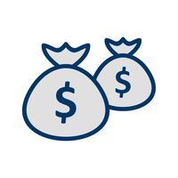 Geldsäcke Vektor Icon