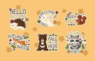 Herbst Natur Sticker vektor