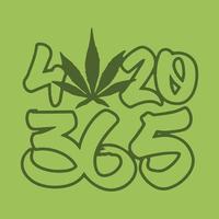 lustiges 420-T-Shirt-Design vektor