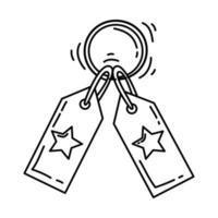 Symbol für die E-Commerce-Kategorie. handgezeichnete Icon-Set, Umriss schwarz, Doodle-Symbol, Vektor-Symbol vektor