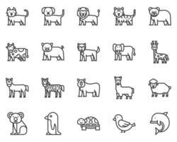 Tiere umreißen Symbol und Symbol für Website, Anwendung vektor