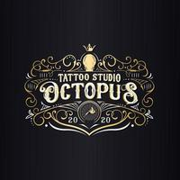 Oktopus Tattoo Studio Logo vektor