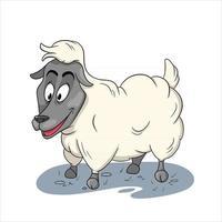 Tierfigur lustige Schafe im Cartoon-Stil vektor