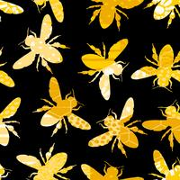 Nahtloses geometrisches Muster mit Biene. vektor
