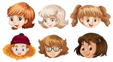 Set av tonårsflickans ansikte