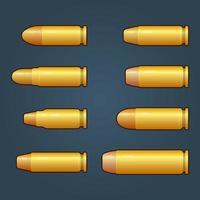Spielkugeln mit goldfarbenem Designvektor vektor