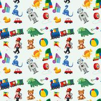 Kinder Spielzeug nahtlose Muster vektor
