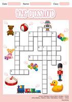 Spielzeug Kreuzworträtsel Blatt Vorlage