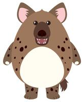Hyäne mit rundem Körper