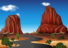 Eine Straße in der Wüste