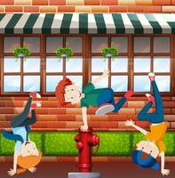 Kinder Street Dance Szene vektor