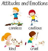 Englische Worteinstellungen und Emotionen