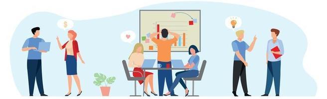 Geschäftspräsentation der finanziellen Leistung an das Team - Vektor