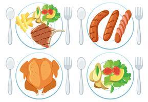 Eine Reihe von gesunden Lebensmitteln vektor