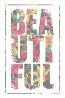 Vektorillustration mit dem Slogan