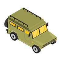 Militärjeep und Fahrzeug vektor