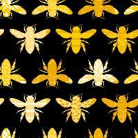 Nahtloses geometrisches Muster mit Biene.