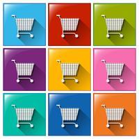 Shopping ikoner vektor