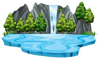 Isoliertes Wasser in der Natur vektor