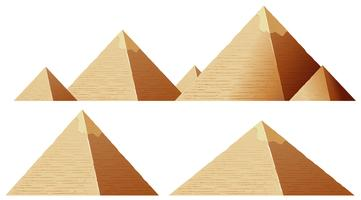 Pyramide isolieren vektor