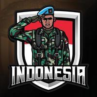 Unabhängigkeitstag von indonesien mit armee abbildung vektor