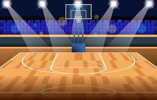 Hintergrund des Basketballstadions vektor