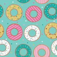 nahtloses Muster mit Donuts auf blauem Hintergrund. vektor