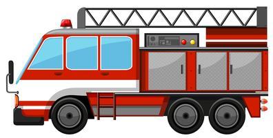 Feuerwehrauto mit Leiter vektor
