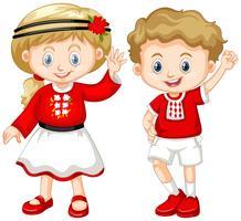 Pojke och tjej från Ukraina