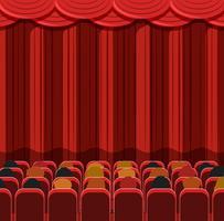 Människor i en biograf scen vektor