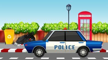 Polizeiauto auf der Straße
