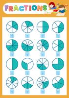 Ein mathematisches Bruchblatt vektor