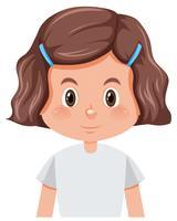 Eine brünette Mädchenfigur
