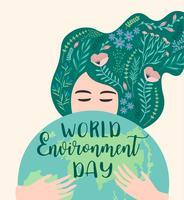 Världs miljö dagen. Vektor mall.