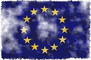 Grunge-Flagge der Europäischen Union vektor