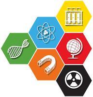 Olika symbol för sciene på sexkant