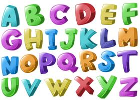 Teckensnittsdesign med engelska alfabet vektor