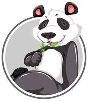 En panda klistermärke